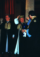 Proclaimed honorary doctor of the University of Athens
